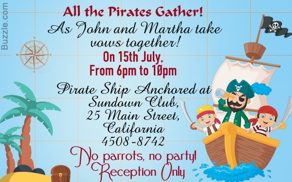 Avast! Here Are 9 Really Freaky Pirate Party Invitation Wordings