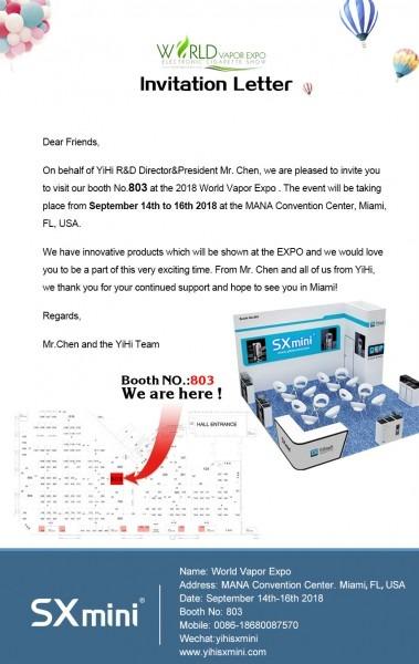 2018 Miami World Vapor Expo Invitation Letter