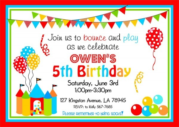 Bounce House Party Invitations, Bouncy Castle, Printable Bounce