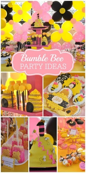 Girly Bee Party   Birthday  Jelinas 1st Beeday  In 2019