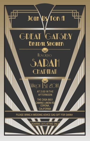 Great Gatsby Invitations