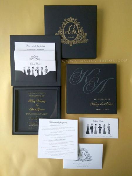 Vinas Invitation  Australian Wedding  Acrylic Invitation  Perspex