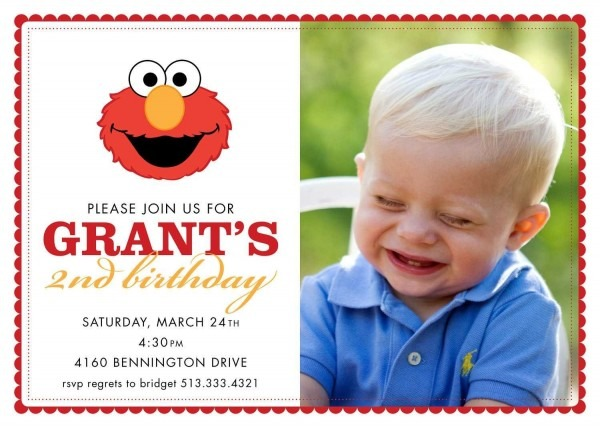 2nd Birthday Invitation Cards Templates For Boys