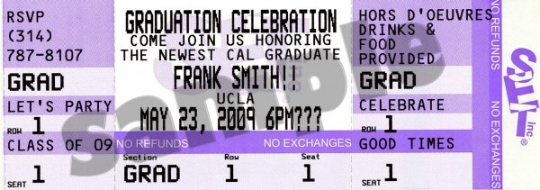 Grauation Party Ticket Invitations And Announcements