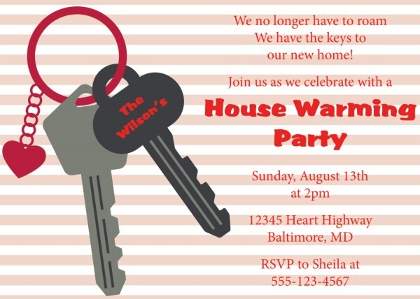 Housewarming Invitation Wording Examples Messages And