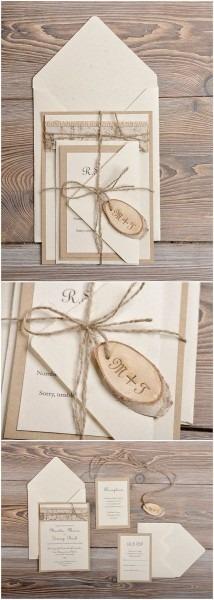 Diy Wedding Invitations Burlap And Lace Wedding Invitations In