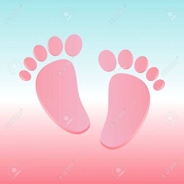 Baby Shower Invitation Card With Baby Feet