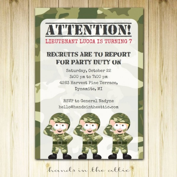 Best 2018! New Tips Of Camouflage Invitations Template Free New Hd