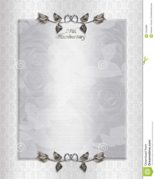 25th Wedding Anniversary Invitation Templates ~ Wedding Invitation
