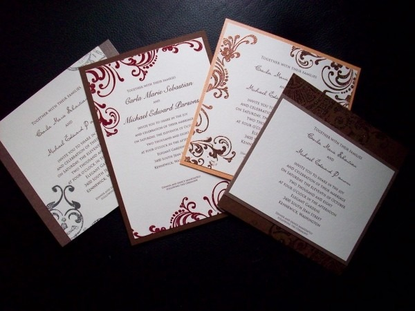 Red Bumble Bee Wedding Invitation