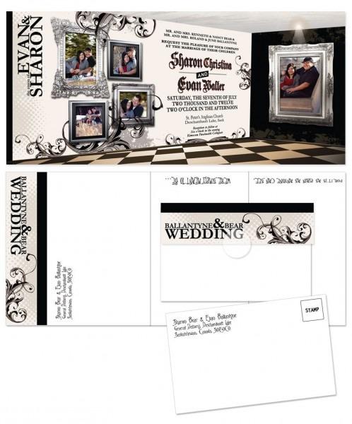Tim Burton Gothic Inspired Wedding Invitations