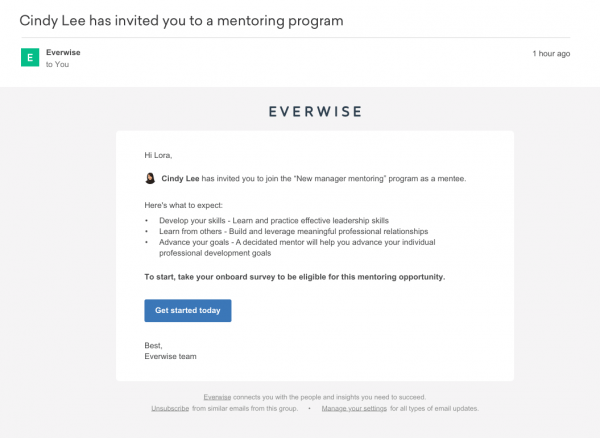 Mentor And Mentee Invitation Emails (for All Programs) – Everwise