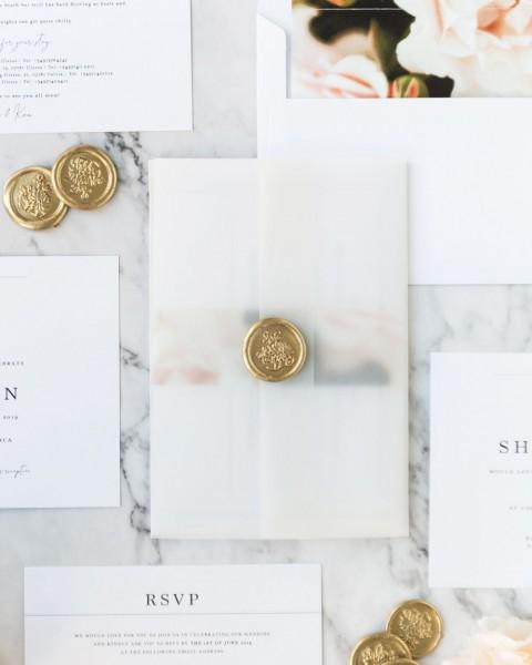Shrina Floral Vellum Wedding Invitation In 2019