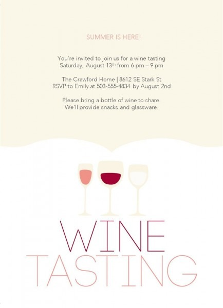 Wine Tasting Party Template