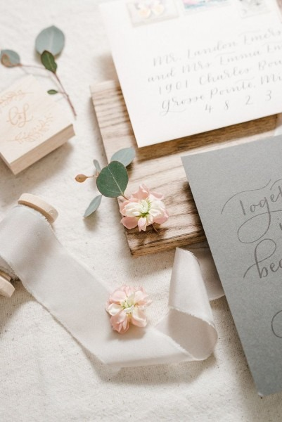 Custom Southwest Wedding Invitation Suite, Hand Lettering And