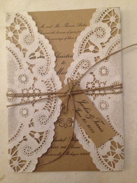 Our Perfect Vintage Chic Wedding Invitations Printed On Kraft