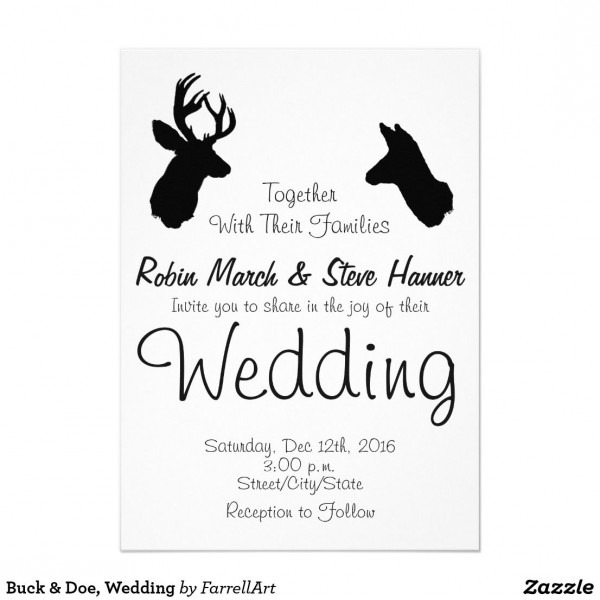 Buck & Doe, Wedding Invitation