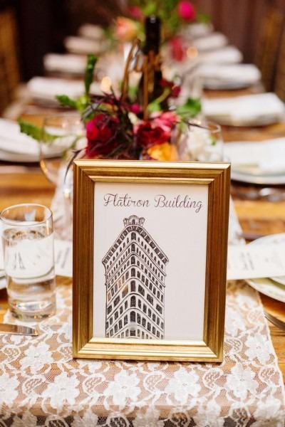 Winter Wedding At Brooklyn Winery With Nyc Themed Wedding