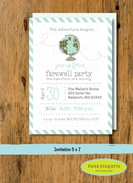 Going Away Party, Moving Party Invitation, Beer Packing Party, New