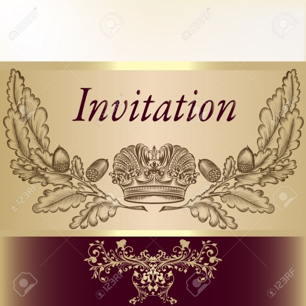 Royal Invitation Card For Design Royalty Free Cliparts, Vectors