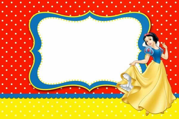 Snow White  Free Printable Invitations, Labels Or Cards