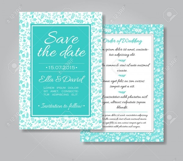 Wedding Invitation Card With Floral Design As Background In