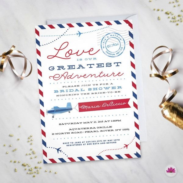 Love Is Our Greatest Adventure– Bridal Shower Invitation (digital