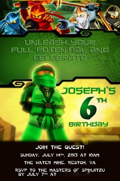 924 Best Lego Ninjago Party Images On Omg Invitation – Omg Invitation