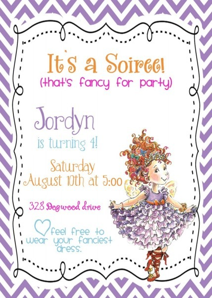 Custom Digital Diy Fancy Nancy Birthday Party Invitation  $10 00