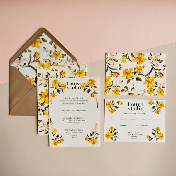 Daffodil Wedding Invitation In 2019
