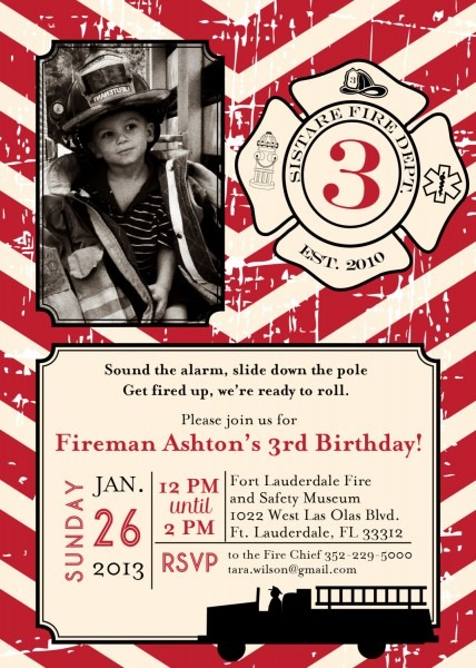 Diy Printable Vintage Fireman Birthday By Lovelylittleparty
