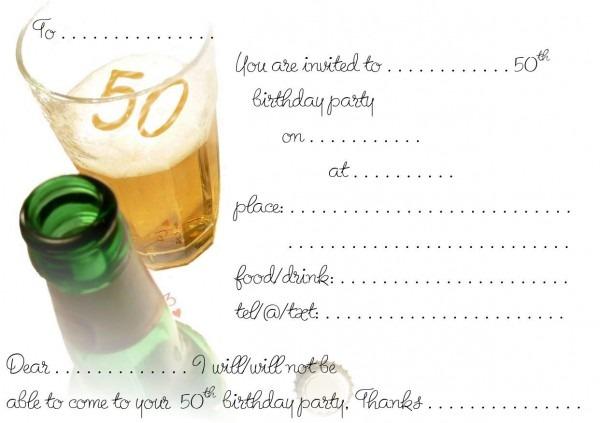 98+ Happy 50th Birthday Invitations
