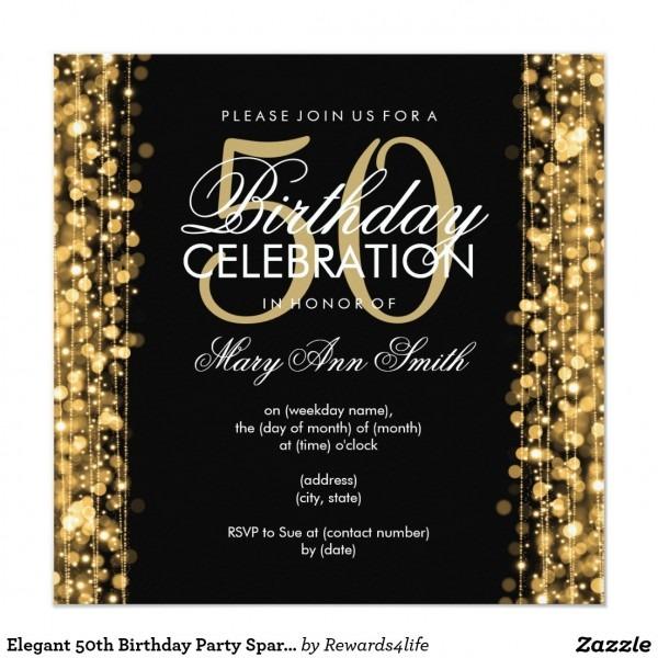 50th Birthday Party Invitations 50th Birthday Party Invitations As