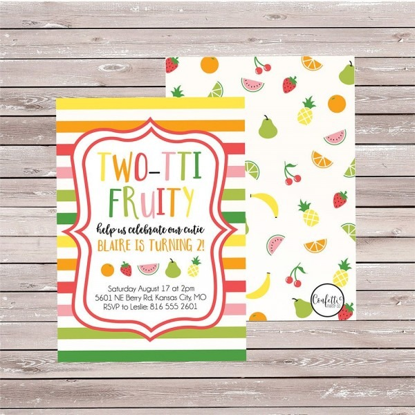 Tutti Fruitti Birthday Invitation