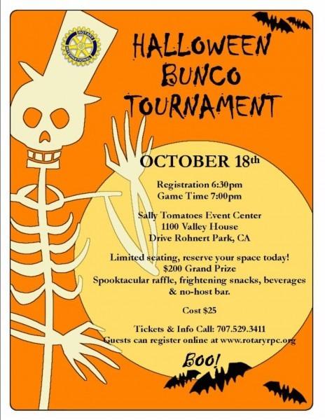 Halloween Bunco Invitations