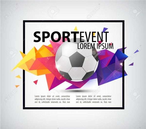 Abstract Soccer Football Poster, Flyer, Card, Invitation