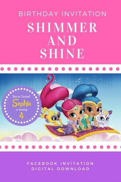 Shimmer And Shine Invitation, Facebook Invitation, Facebook Event