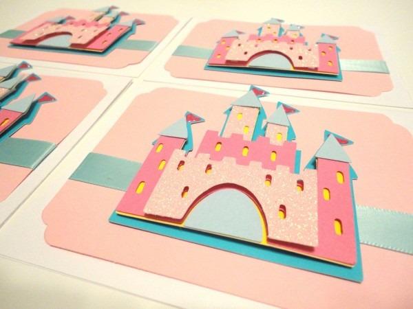 Set Of 8 Princess Birthday Invitations Etsy