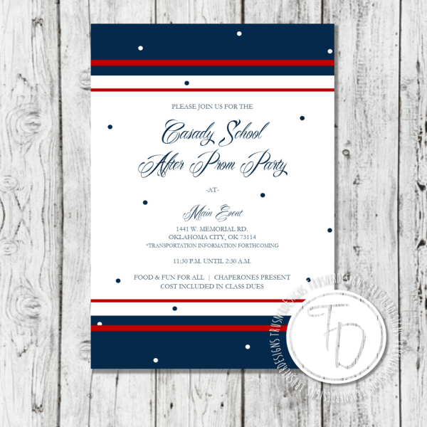 After Prom Invitation, Military Ball Invitation By Trusner Designs