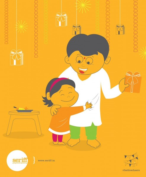 Indian  Festival  Bhaidooj  Family  Celebration