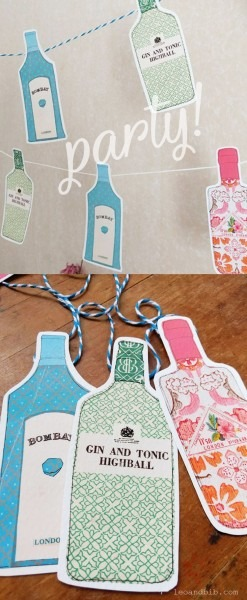 Printable Gin Party Decorations