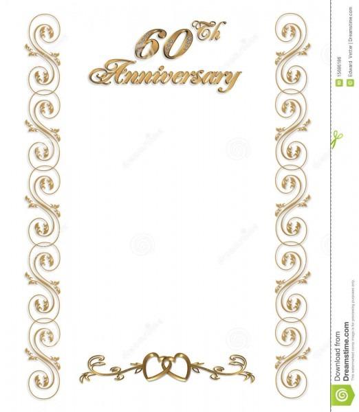 60th Anniversary Invitation Border Stock Illustration