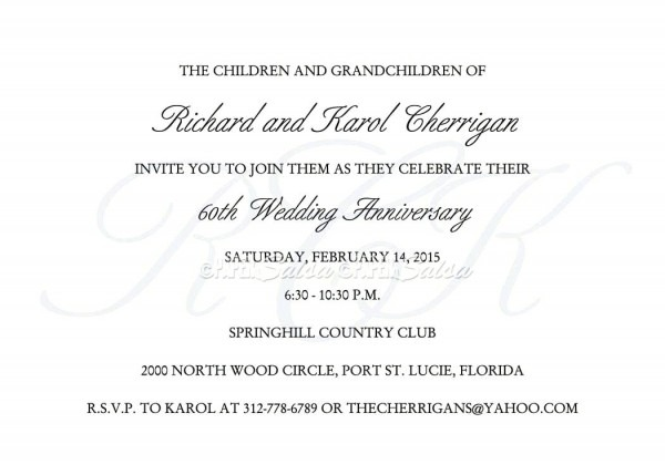 60th Anniversary Invitations Ideas Invitation Productions Preview