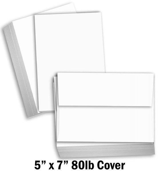 Amazon Com  Hamilco White Cardstock Thick Paper