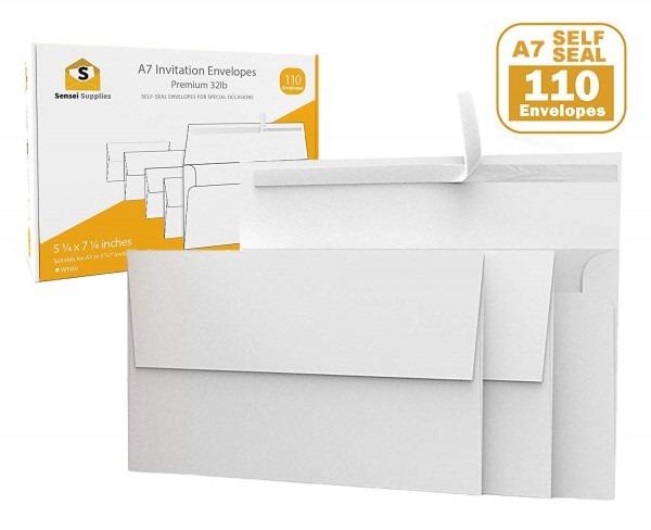 Amazon Com   110 5x7 White Invitation Envelopes