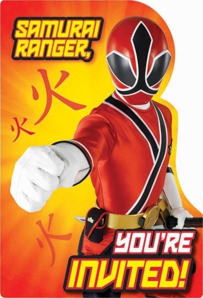Free Power Ranger Birthday Invitations