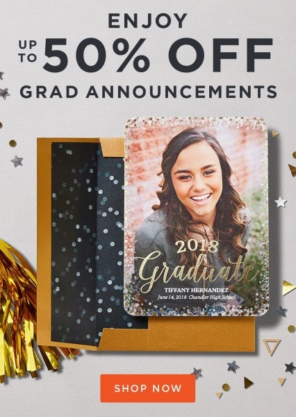 You Did It! Now Enjoy Up To 50  Off Graduation Announcements To