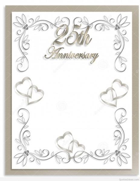 Free Silver Wedding Anniversary Invitations Templates