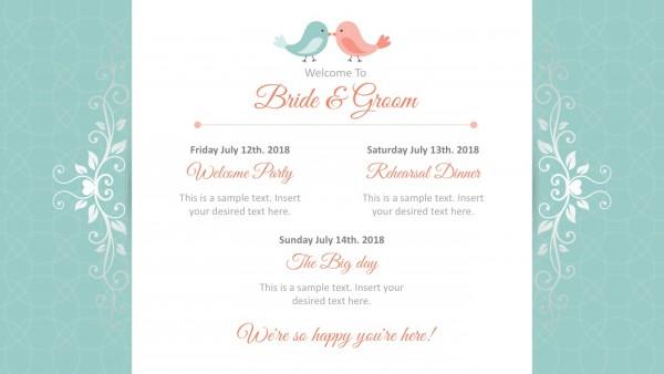 Wedding Invitation Powerpoint Template