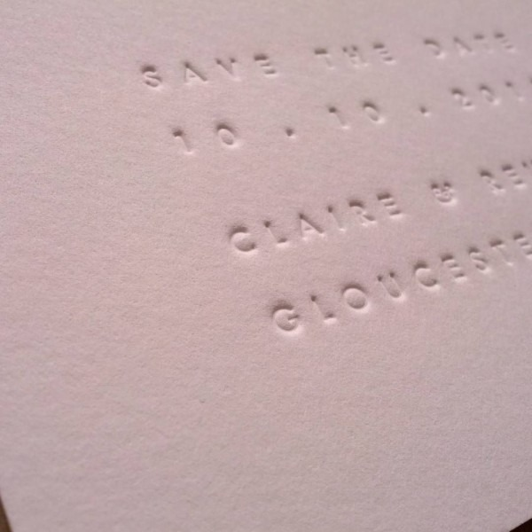 Inkless Save The Date Cards (available In The Three Sizes